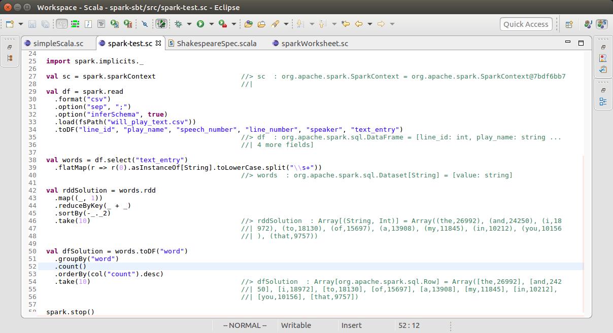 Running Spark on Scala Worksheet | Sanori's Blog